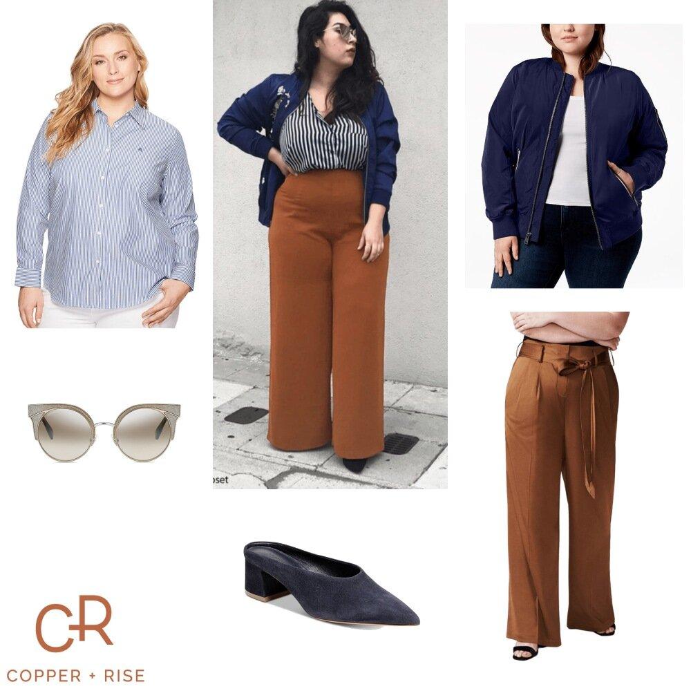 Fall Fashion - Toffee Wide-Leg Pants -