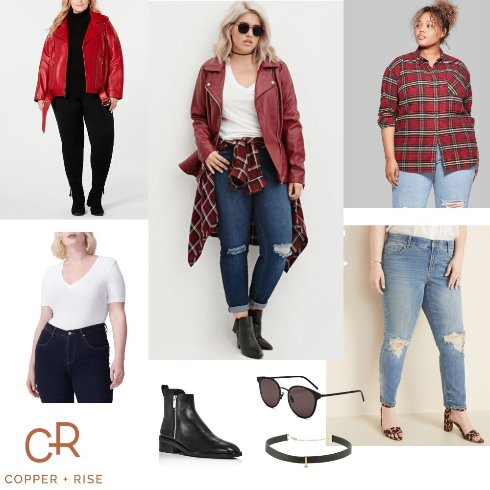 Fall Fashion - Red Moto -