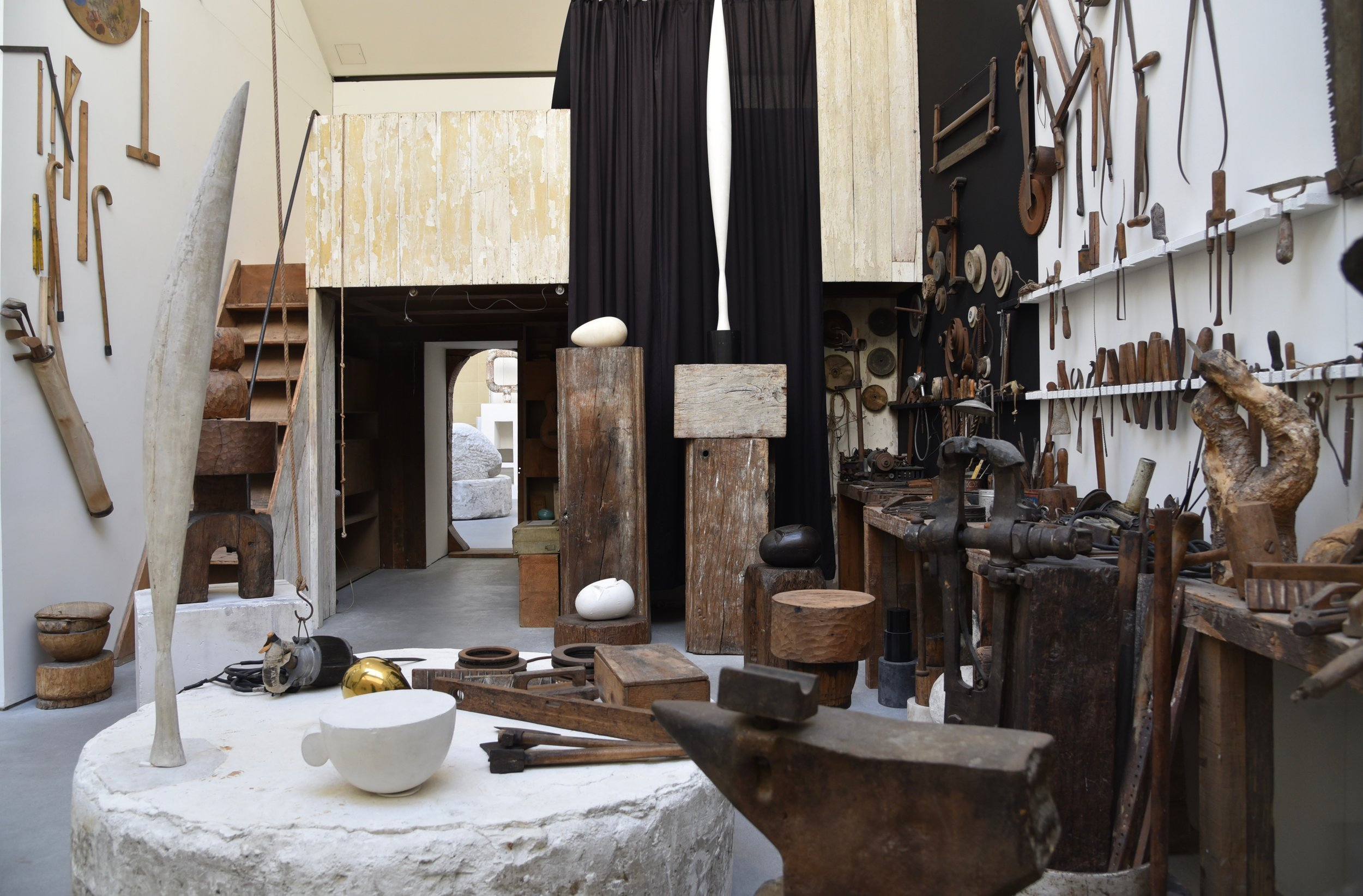 brancusi's Work area, recreated from his own photographs