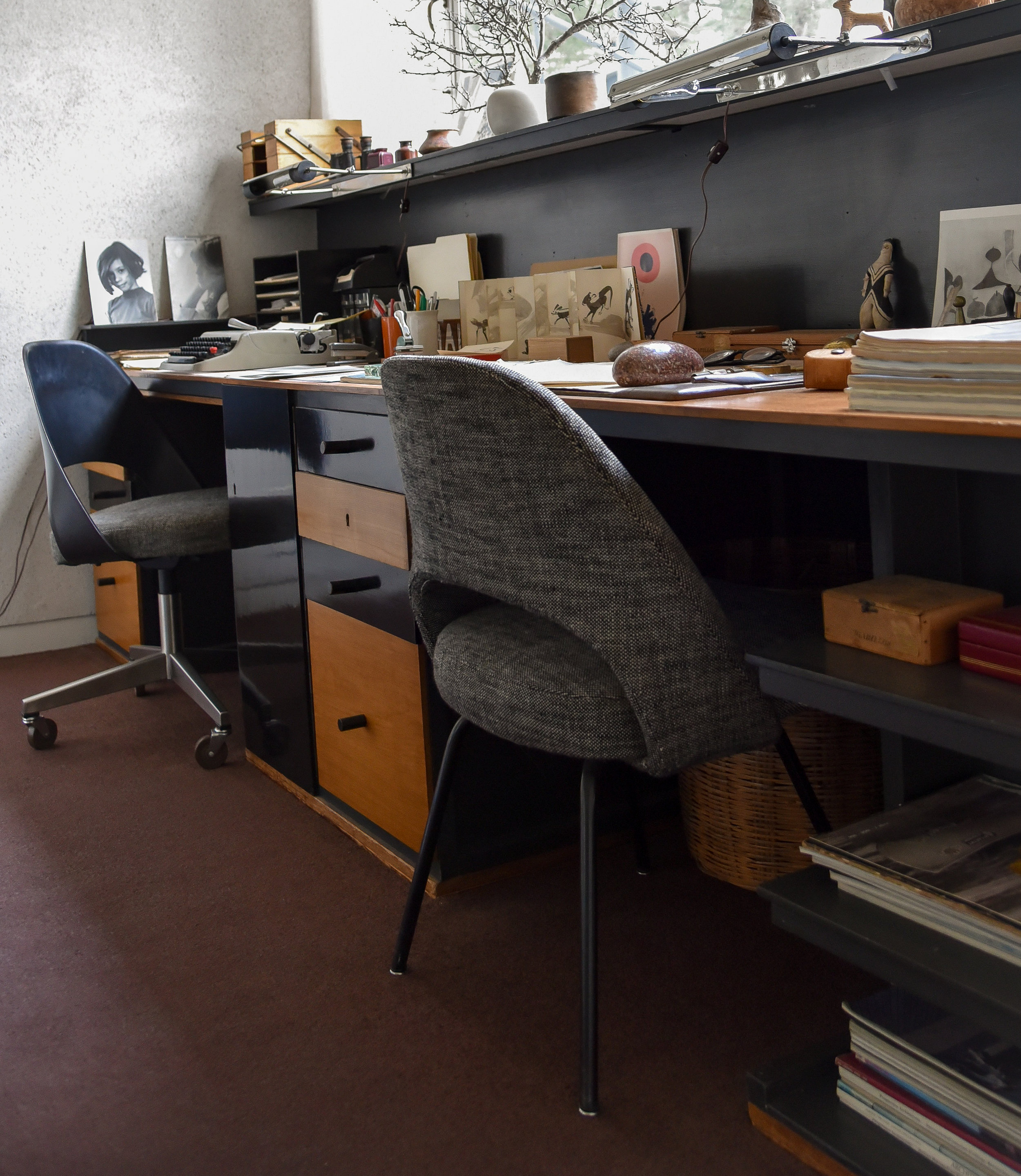 double desk made for the gropius' in the bauhaus workshops in dessau, 1925