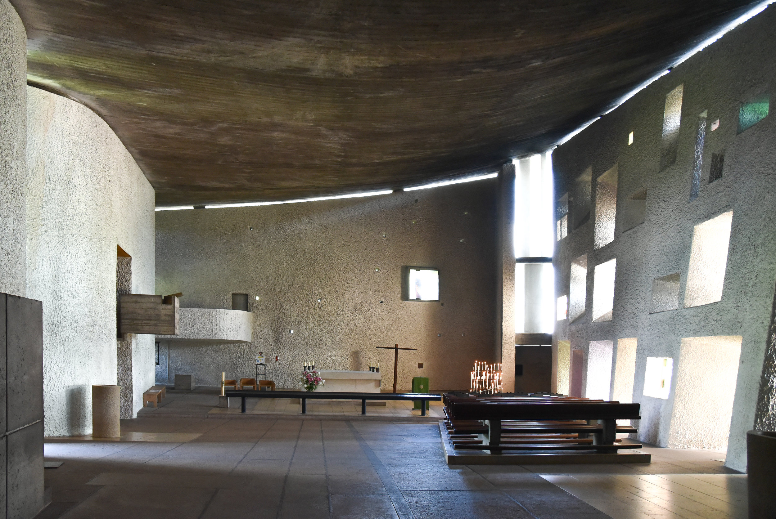 essential space looking towards main altar