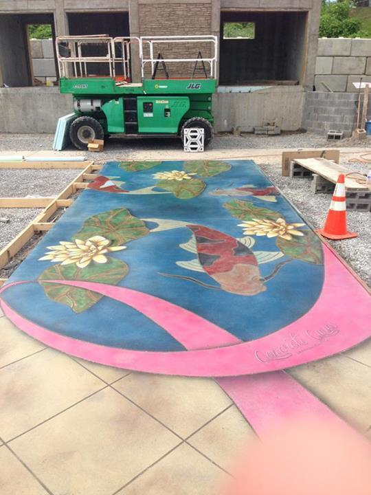 Concrete Cares Lily Pond  - Nashville, TN.
