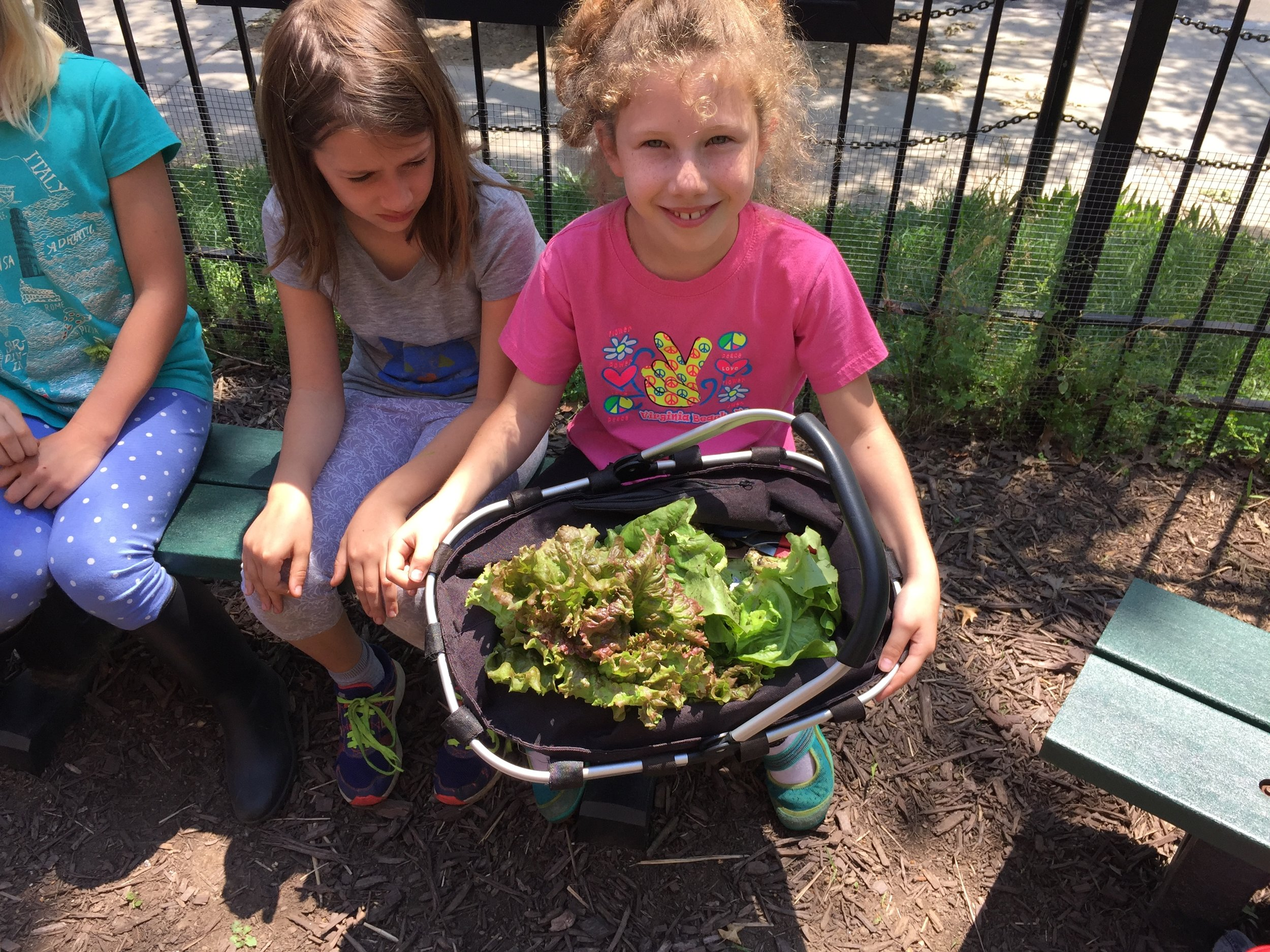 Watkins Elementary School students enjoying the FoodPrints program, which integrates gardening, cooking, and nutrition in to the school day. FoodPrints is supported by the Cluster School PTA.