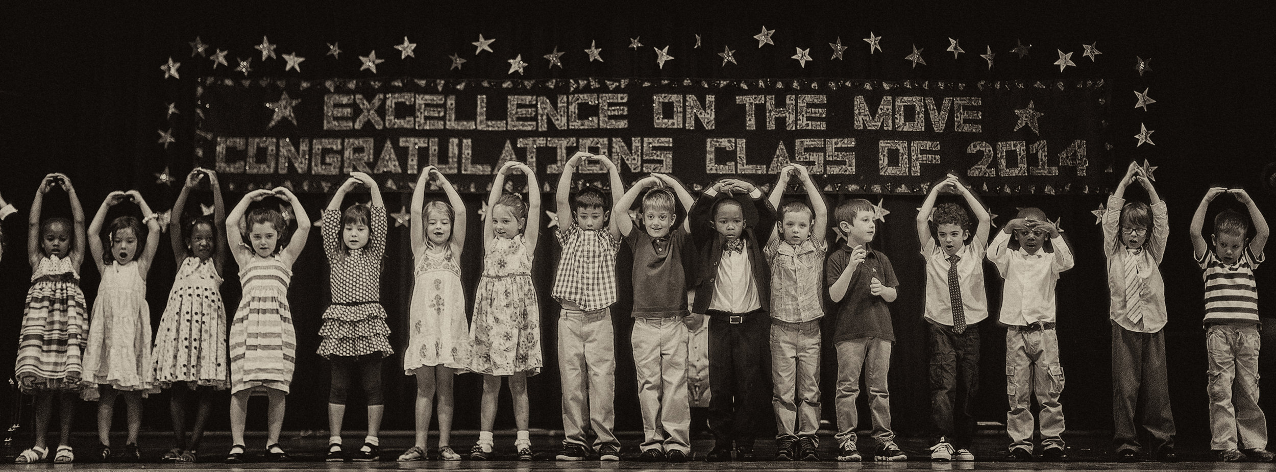 Our youngest Peabody Elementary School Students perform like the stars they are!  Photo credit: Djenno Bacvic Photography