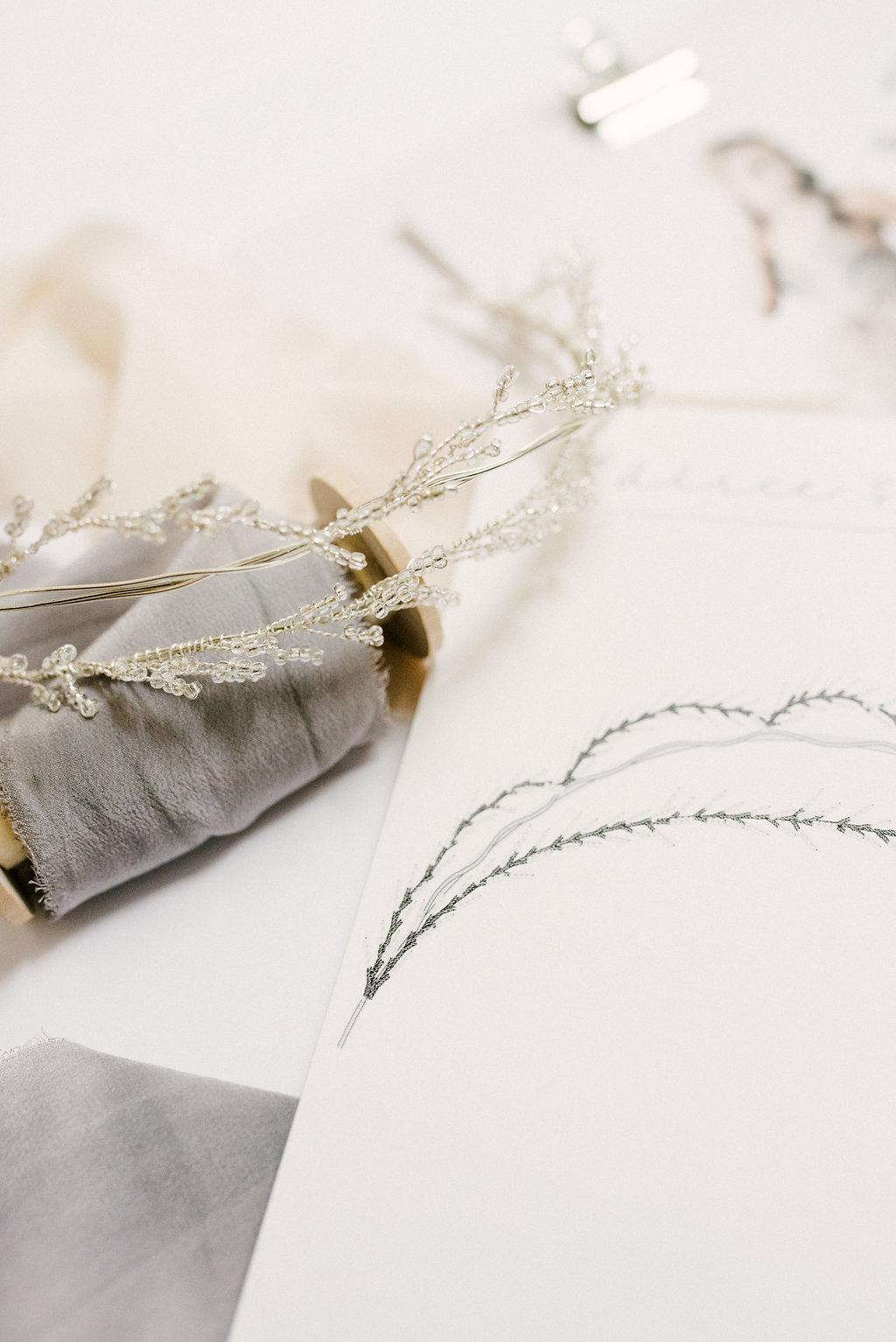 Custom Bridal Accessory Sketch- Alice & Mae Bridal