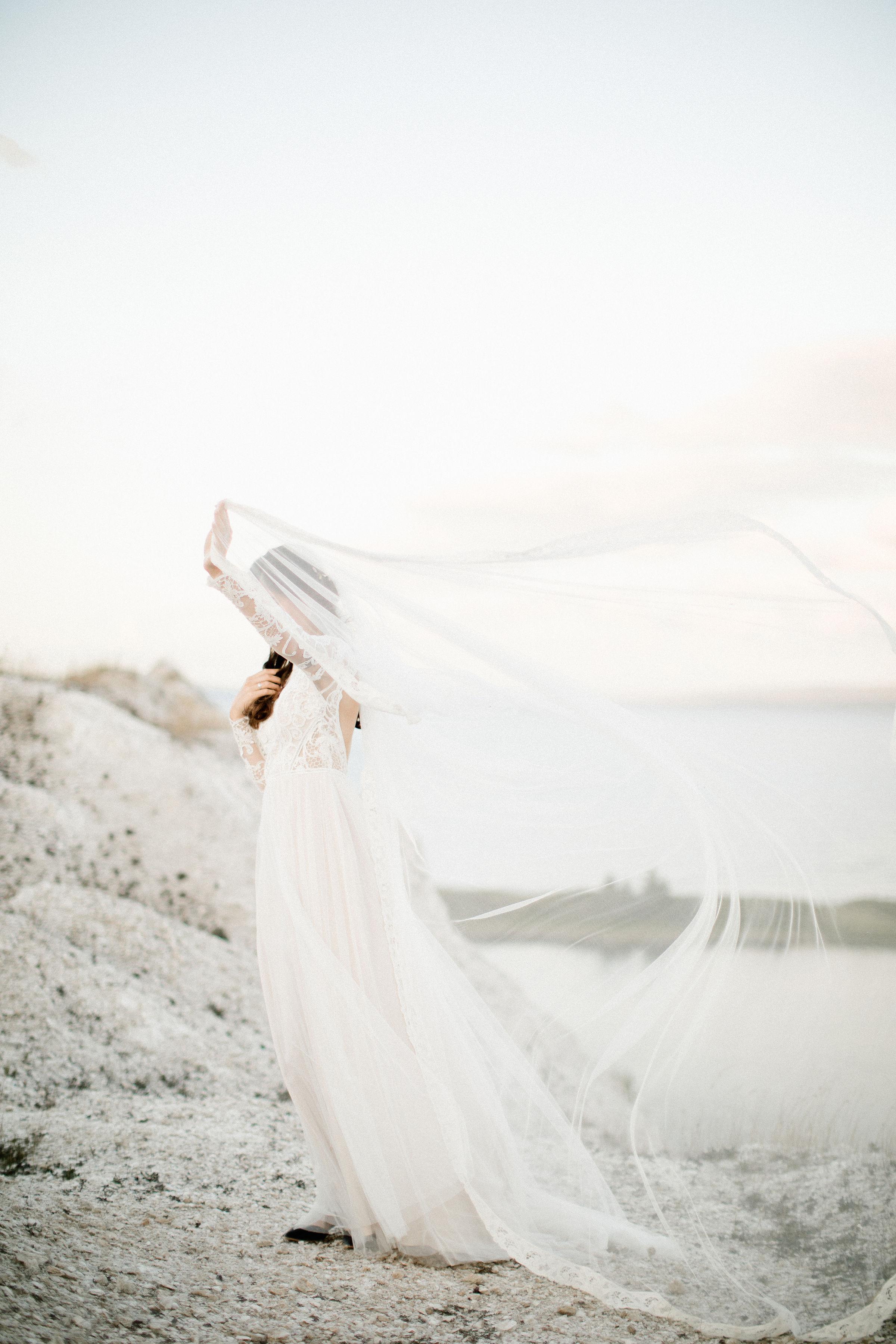 Lace Drop Veil- Alice & Mae Bridal