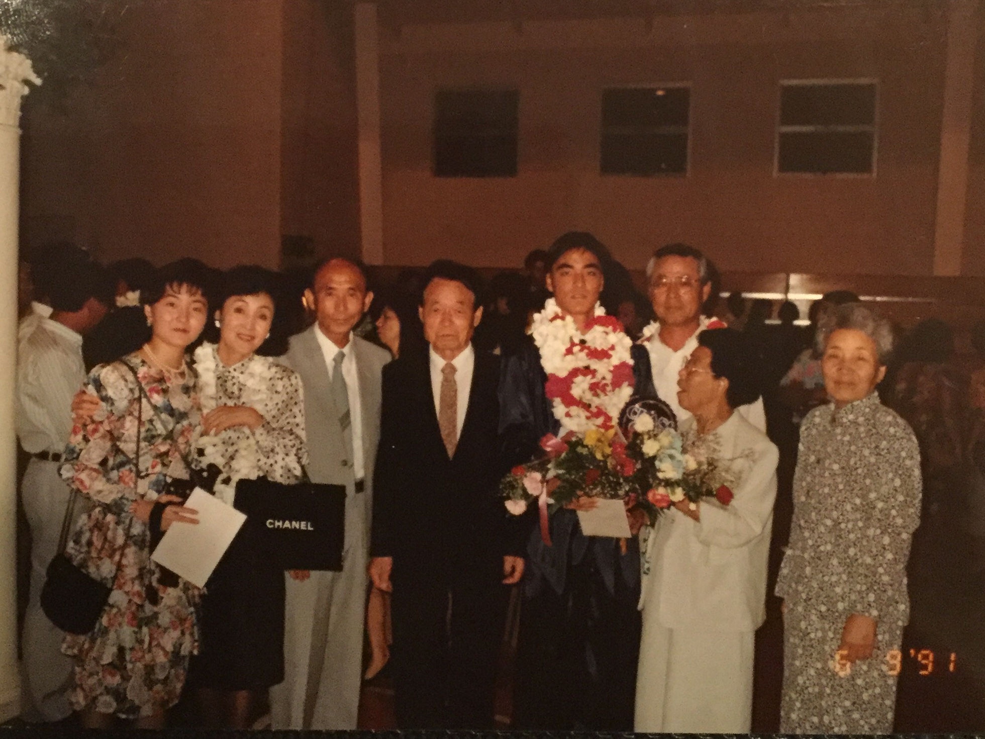 Family and education were the top priorities of the Kim Family. Both sets of grandparents traveled to Guam for Yeong-Sae Kim's graduation from St. John's School in 1991.
