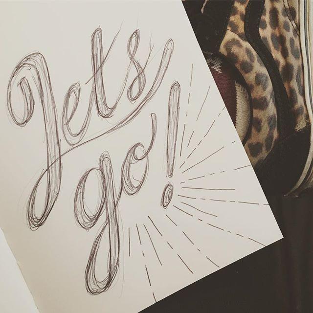 Sketching while I wait #letsgo #vans #penandpaper