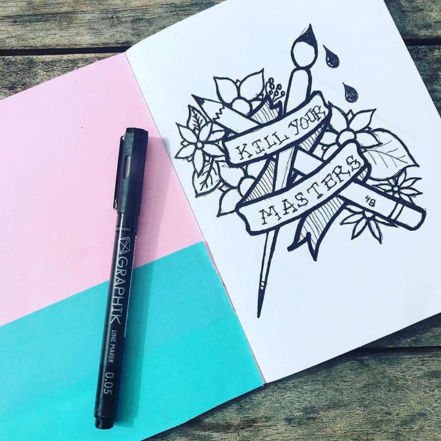 #sketchbookproject & freelance life. @runthejewels 🖤 #penandink #sketch #graphicdesign #illustration #linedrawinf