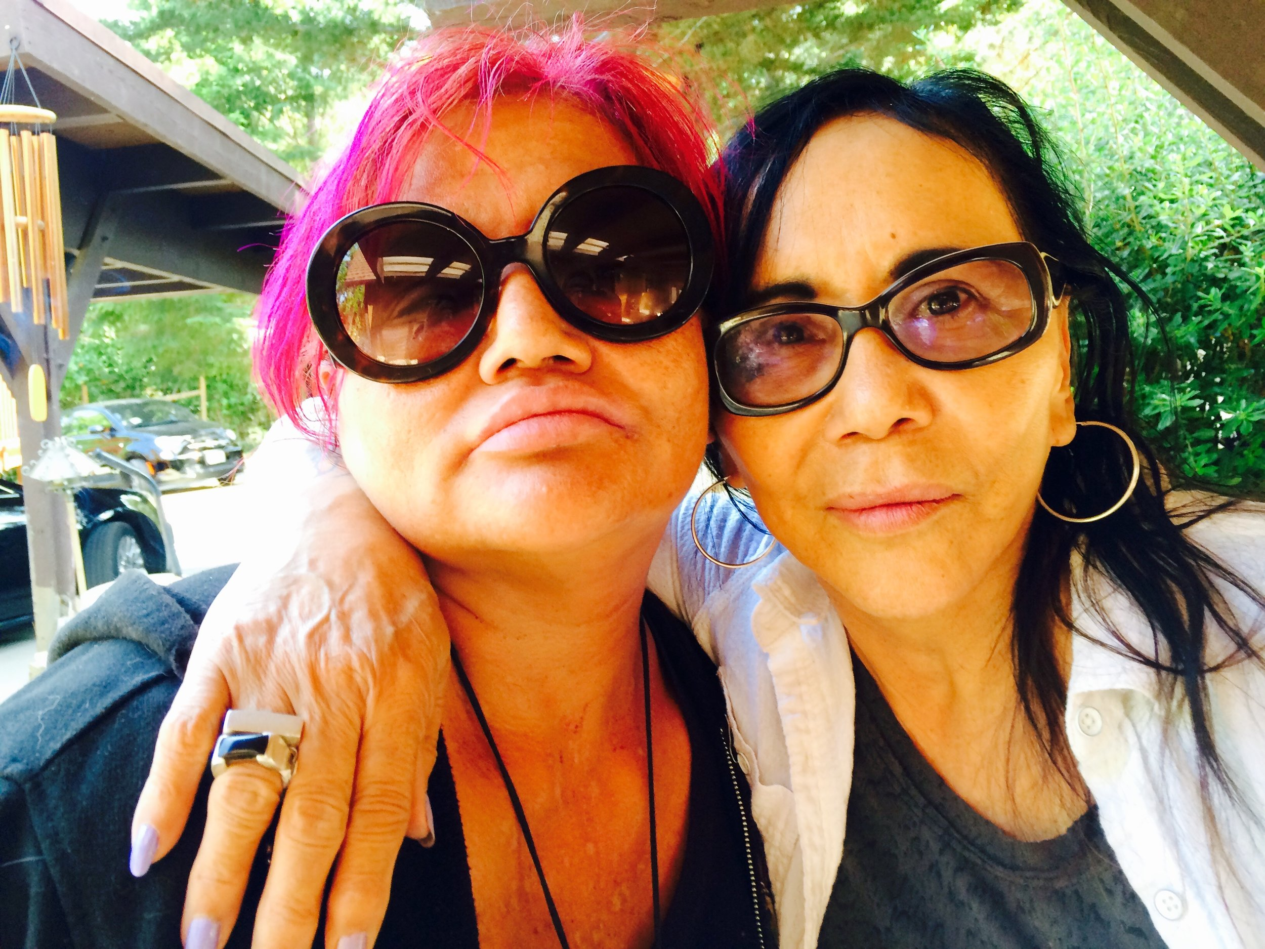 Stephanie Acosta (Oscar's Niece) and her mom Anita Acosta (Oscar's sister) at home near the Russian River in Northern California.