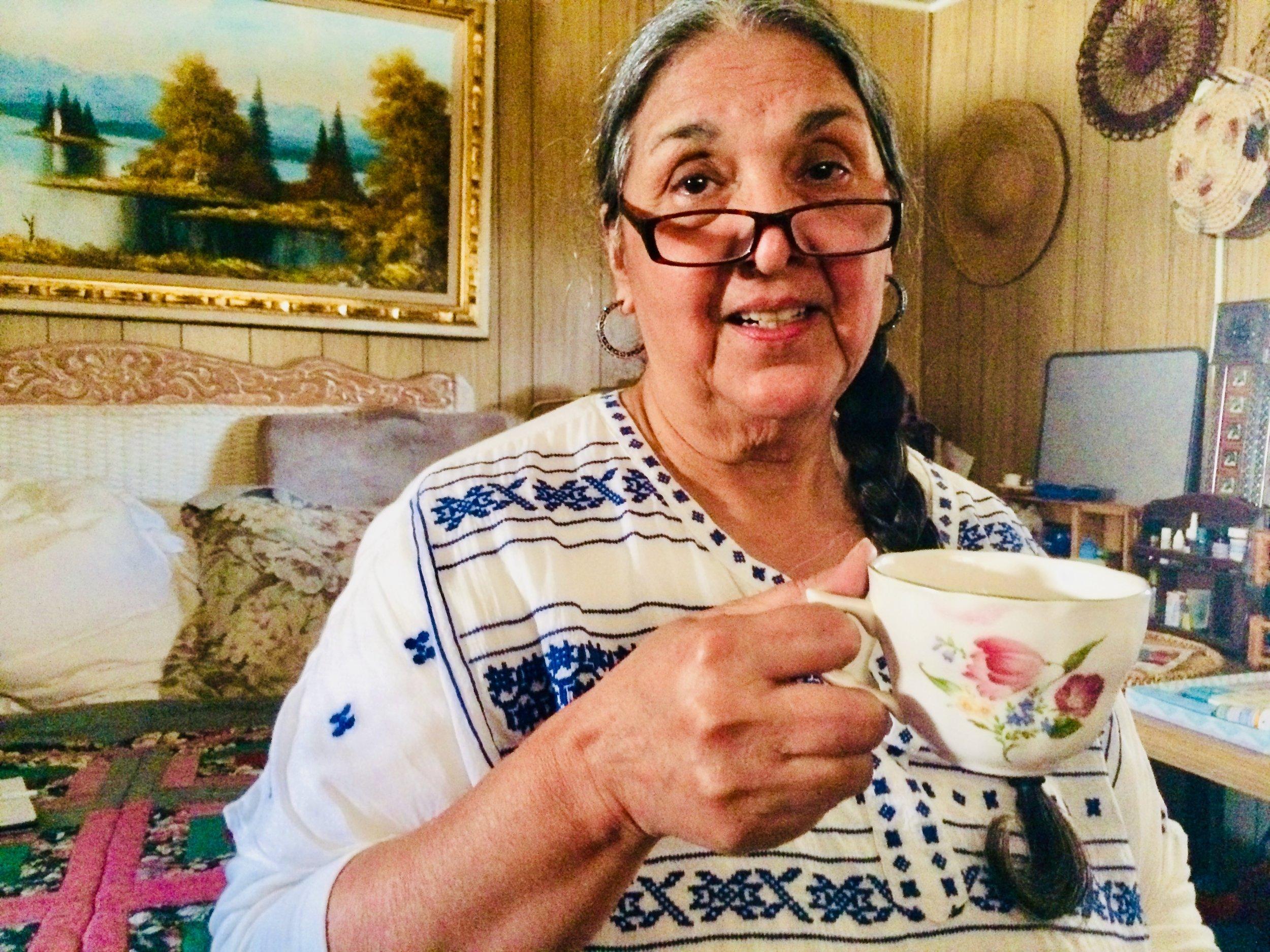 Dorinda Moreno at home in Santa Maria, CA.