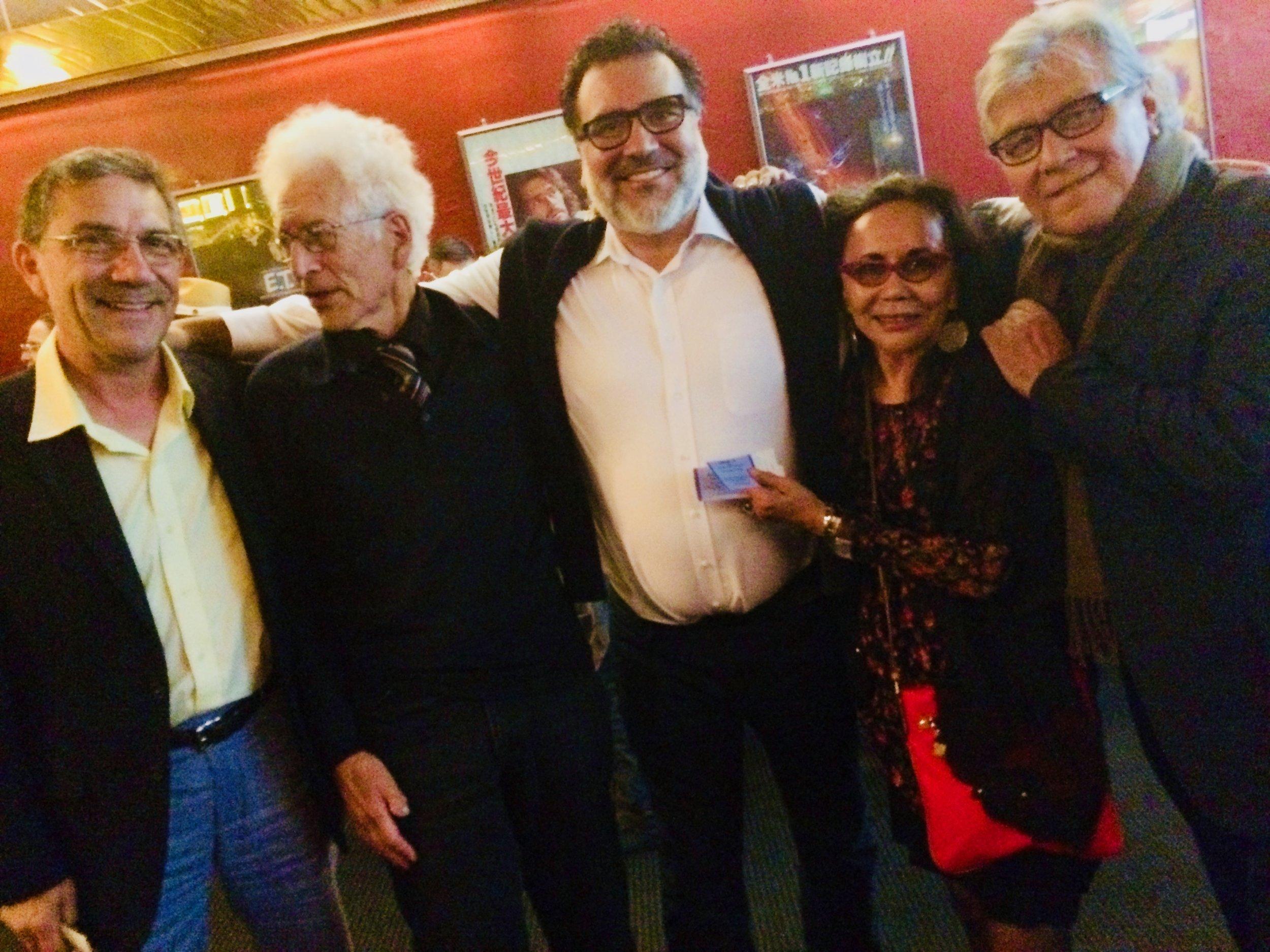 Marco Acosta, Alan Rinzler, Phillip Rodriguez, Anita Acosta and Ricardo Lopez at the San Francisco Latino Film Festival.