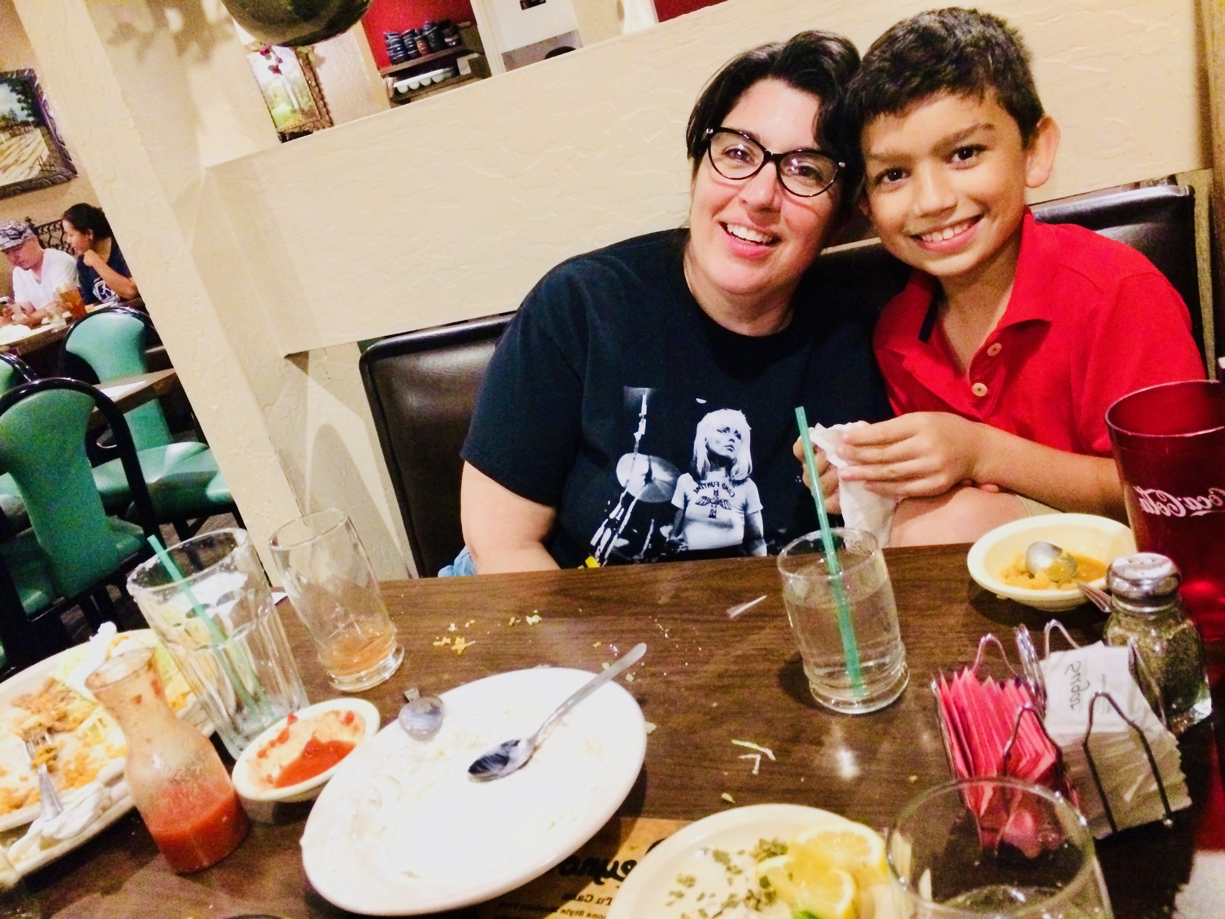 """ASU film instructor Michelle Martinez and her son Elian. Martinez read classics like """"Bless Me Ultima"""" and """"The House on Mango Street"""" in college. These stories inspired her lifelong exploration into the Latino narrative - ultimately leading her to teach Oscar Acosta's books."""