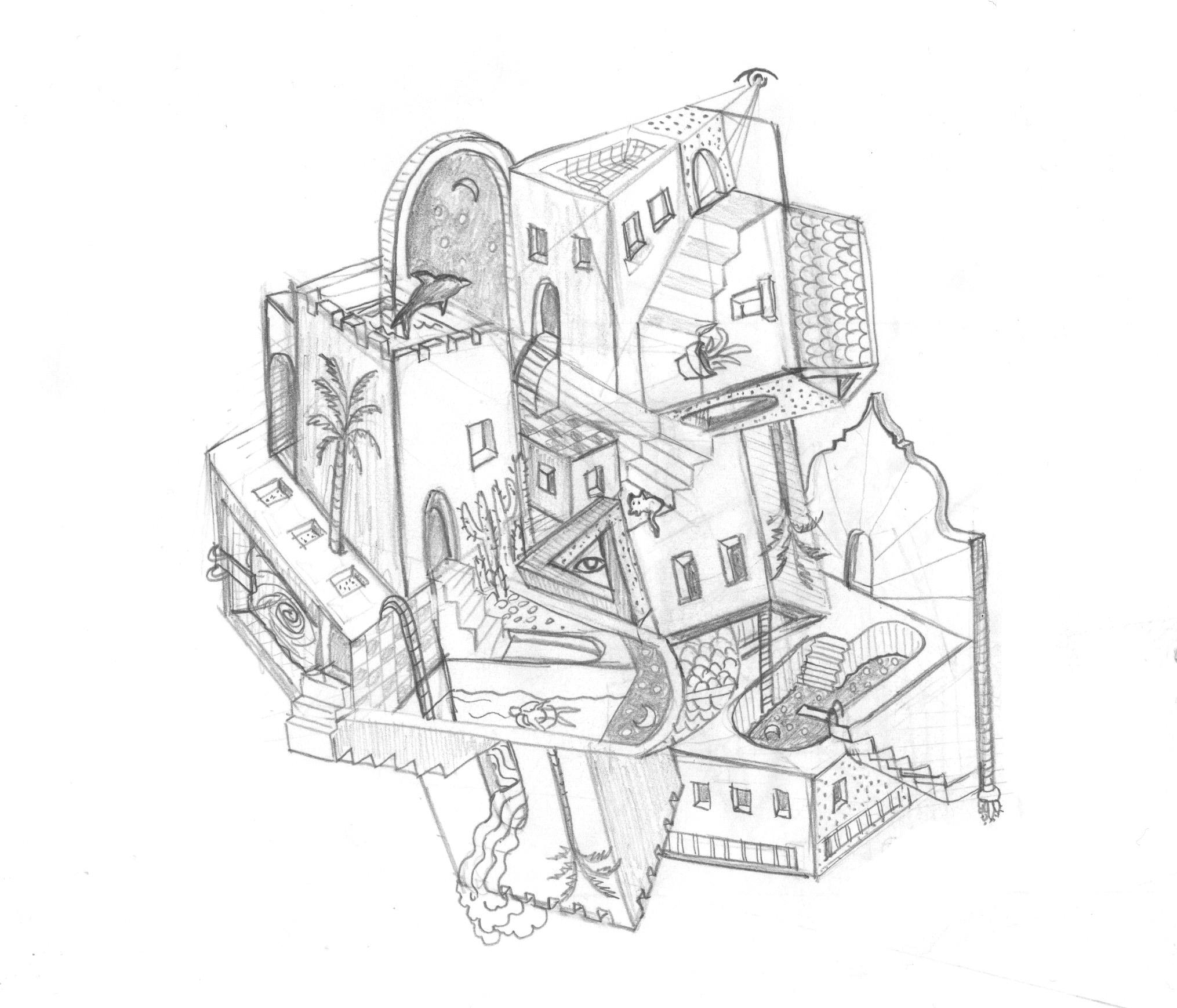 Clare Duffy Morocco multi perspective sketch.jpg