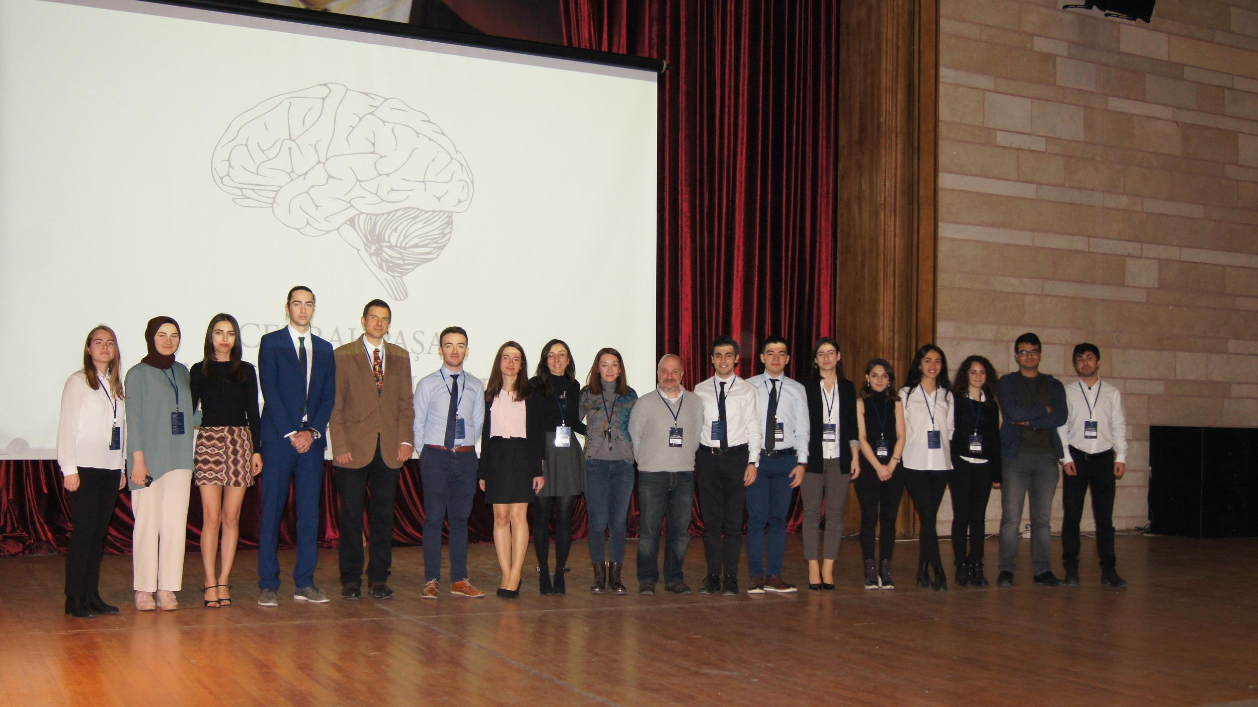I. Cerrahpaşa Nörobilim Günleri Organizasyon Takımı ve Danışman Öğretim Üyeleri
