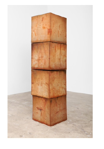Bosco Sodi,  Untitled , 2017. Clay cubes. 88 1/4 x 22 1/8 x 22 1/8 inches.  ©Bosco Sodi; Courtesy of Paul Kasmin Gallery.