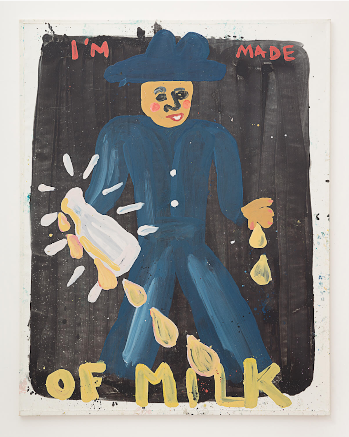 Kate Groobey,  I'm Made Of Milk , 2017. Oil on canvas. 73 x 59 inches.©Kate Groobey; Courtesy of Horton Gallery.
