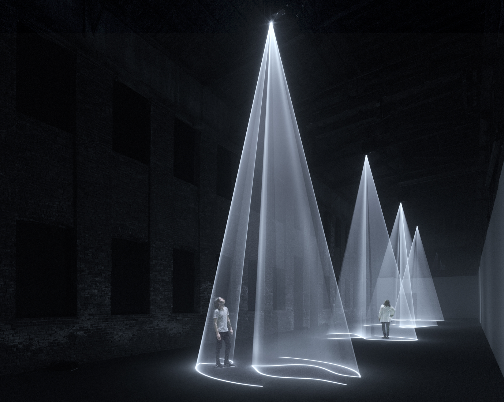 Anthony McCall, Solid Light Works, 2018. Image courtesy of Anthony McCall, Sean Kelly Gallery,and Pioneer Works.