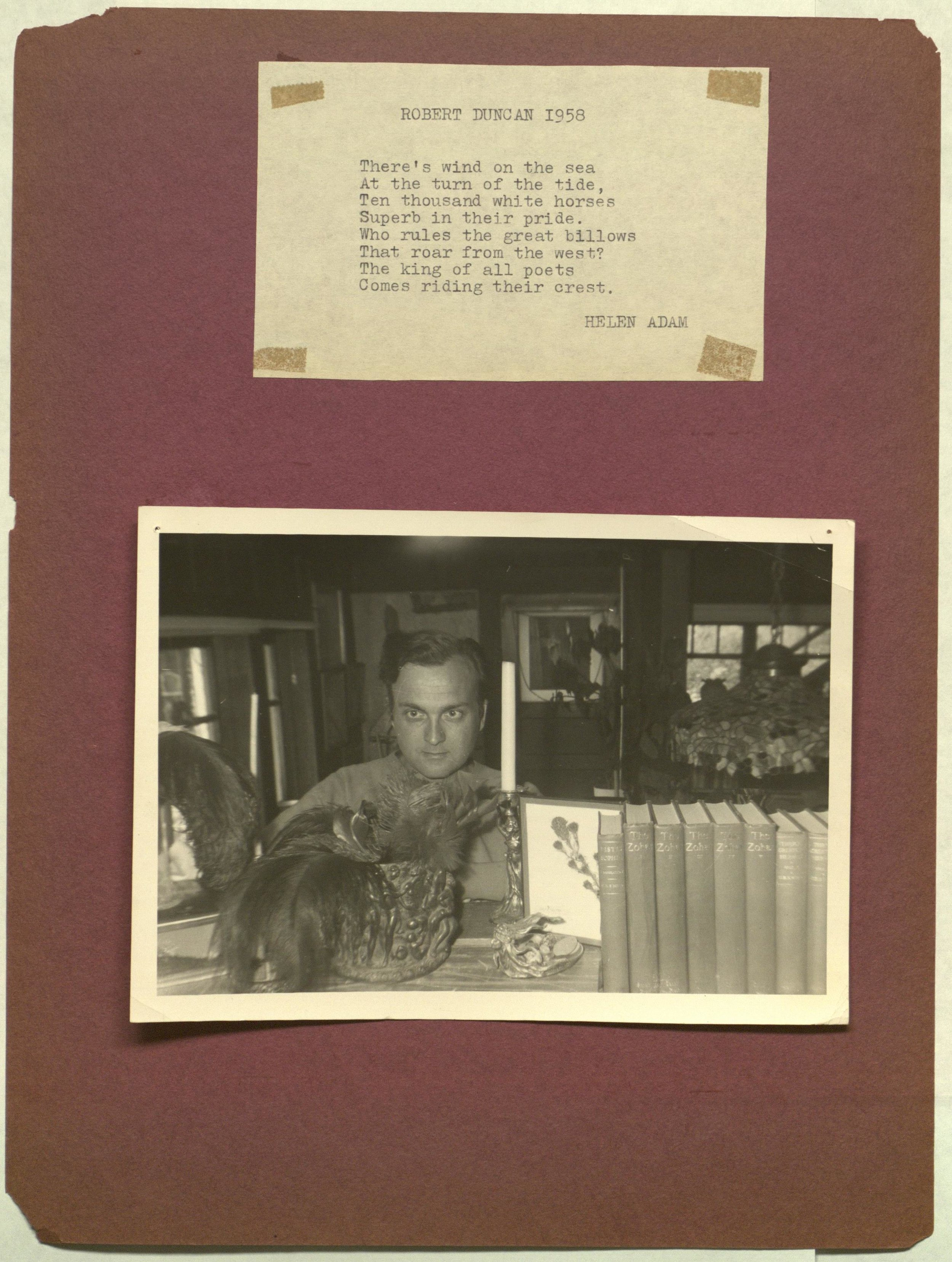 Helen Adam, Robert Duncan 1964 , 1964, photo-collage. Credit: The Poetry Collection of the University Libraries, University at Buffalo, The State University of New York.