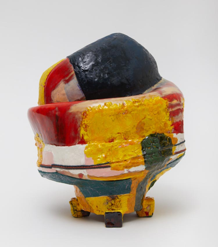 Color Safe , 2018, clay, glaze, 9 3/8 x 8 1/4 x 8 inches