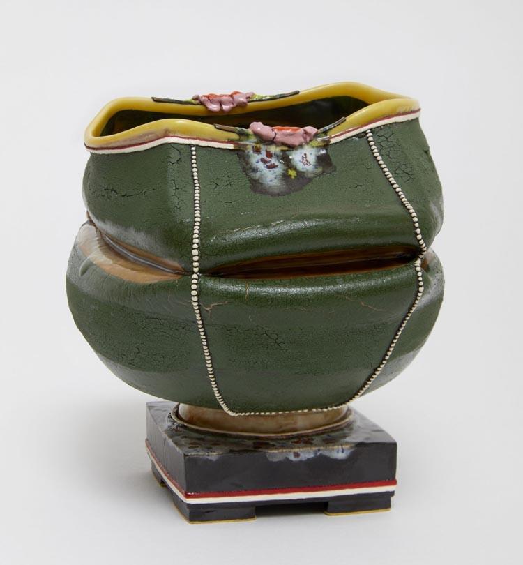 Lip Service , 2018, clay, glaze, 5 x 5 7/8 x 4 ¾ inches