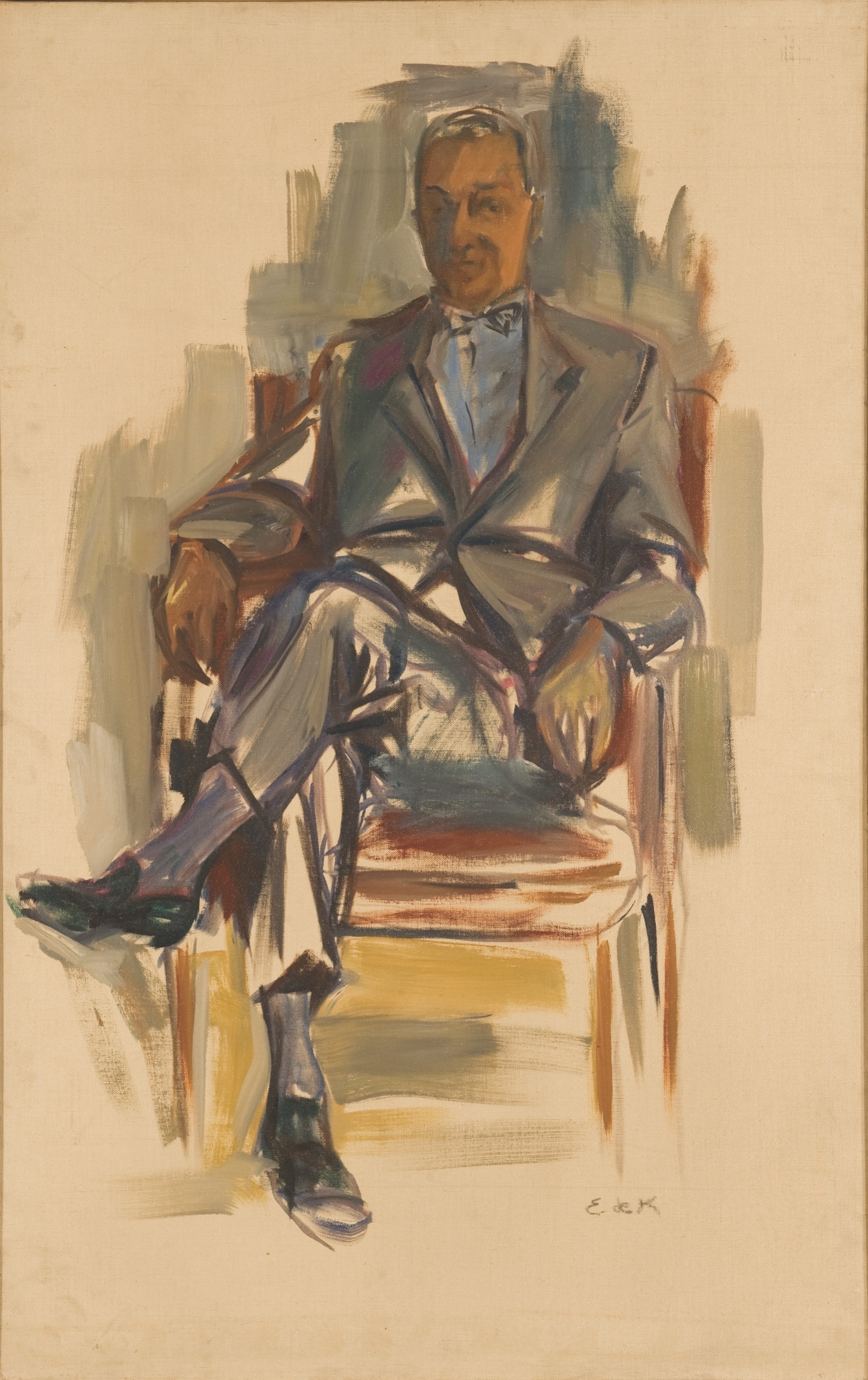 Portrait of Joseph Hirshhorn , ca. 1952, oil on canvas, 44 x 28 inches, Levis Fine Art