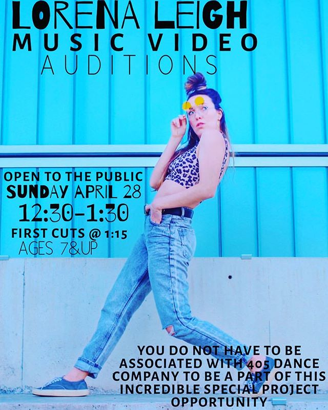 Don't miss this amazing opportunity to be in a music video with @thelorenaleigh !  Auditions are THIS Sunday! 405 Dance Company 12:30-1:30 Ages 7 & up welcome!  Open to the public  You do not have to be associated with 405 dance company to be a part of this special project! • • • • • • • • • • • • • • • • • • • • • • • • • • • • • • • • • #405dancers #405dancecompany #405danceco #405dance #405dancer  #specialproject #lorenaleigh #lorenaleighmusic #musicvideo #opencall #movewithus #dancewithus #growwithus