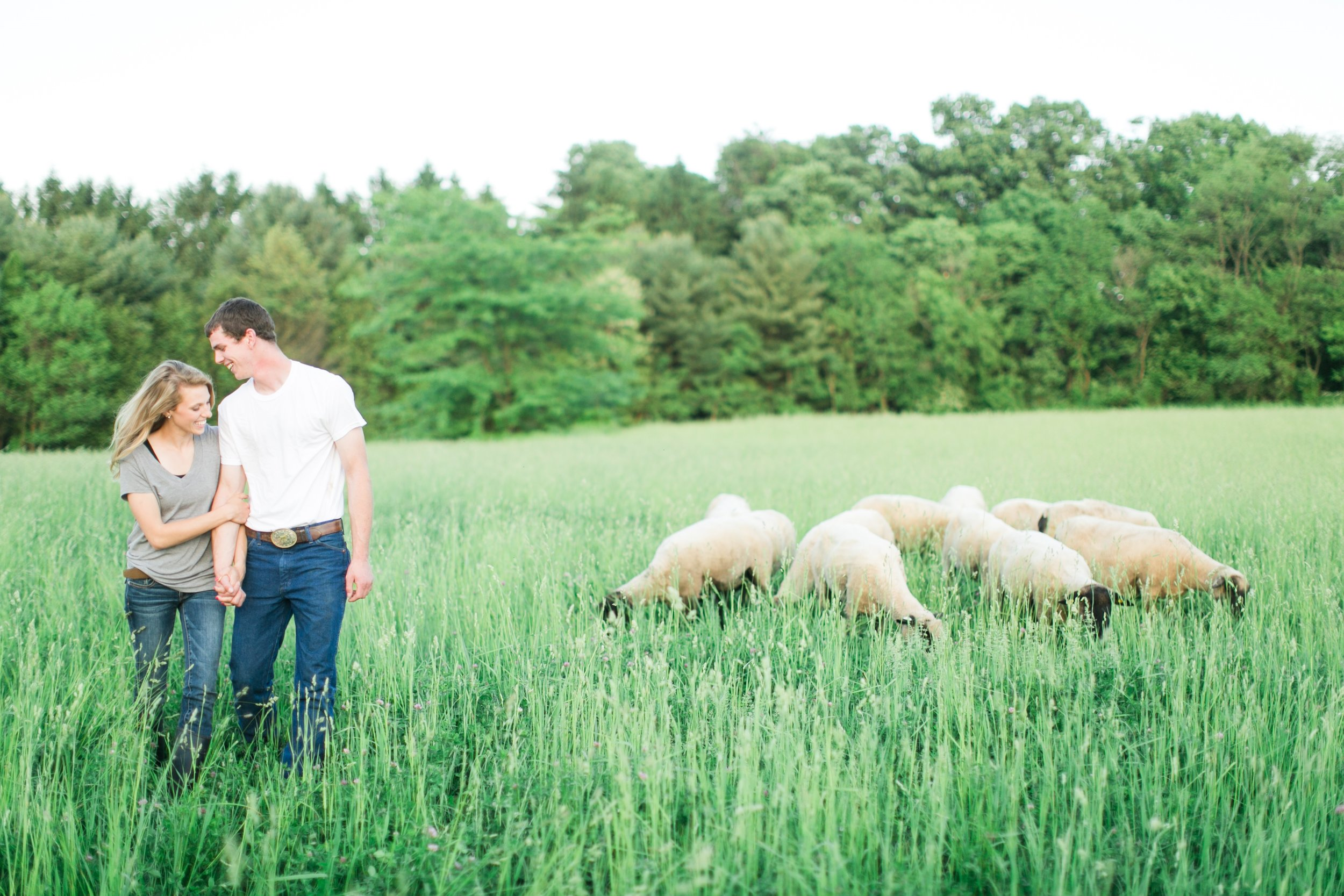 - & That's my husband Ben. Together we're just a couple of shepherds trying to raise some good ole' sheep, feed some good ole' people, and have a good ole' time while doing it. I started The Center Cut Company because I truly believe people deserve to know where their food comes from. I believe in the future of agriculture. I believe the time for young agriculturalists is now. I believe a balanced diet with good clean food can fix a lot and I believe in raising animals humanely. I know the internet is full of good information on anything and everything you can possibly imagine, but I want this site to be a place you know you can go for the facts. When you're wondering about the rumors, feel free to always ask questions and we will be happy to share our true and real experiences and knowledge with you.I am confident that you will get food you feel confident about, information you can trust, and a friend you can always go to. Thank you for visiting our page, and I hope you too can taste the difference.