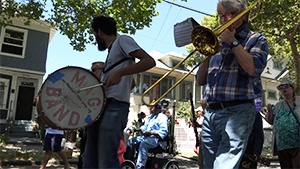 Musicians Action Group Band in South Berkeley