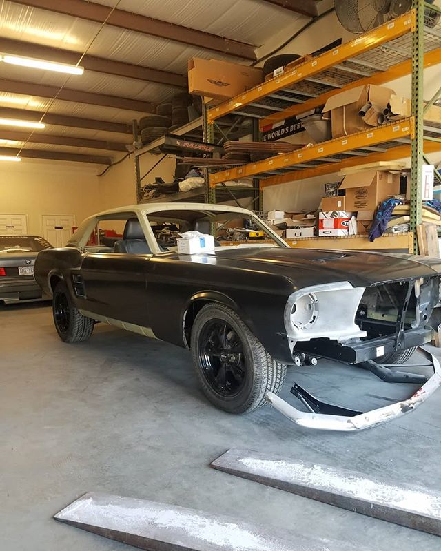 1967 mustang coupe is off to the owners to paint it himself then back to us for final assembly . . . #skin #bones #skinandbones #skinandbonesfab #fabrication #welding #patch #ford #fordmustang #1967mustang #1967mustangcoupe #coupe #ford #mustangcoupe