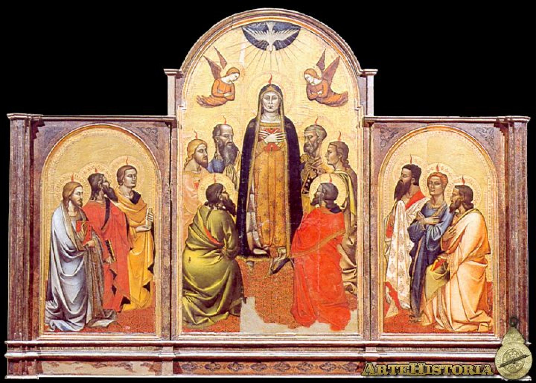 Andrea et Jacopo Orcagna. Tríptico de Pentecostés, 1365-1370. Galería de la Academia, Florencia