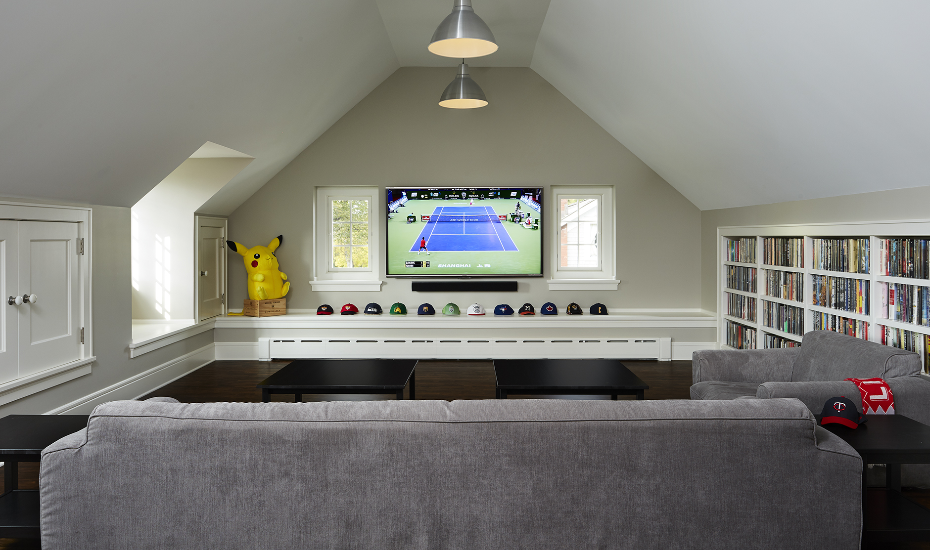renovated attic space