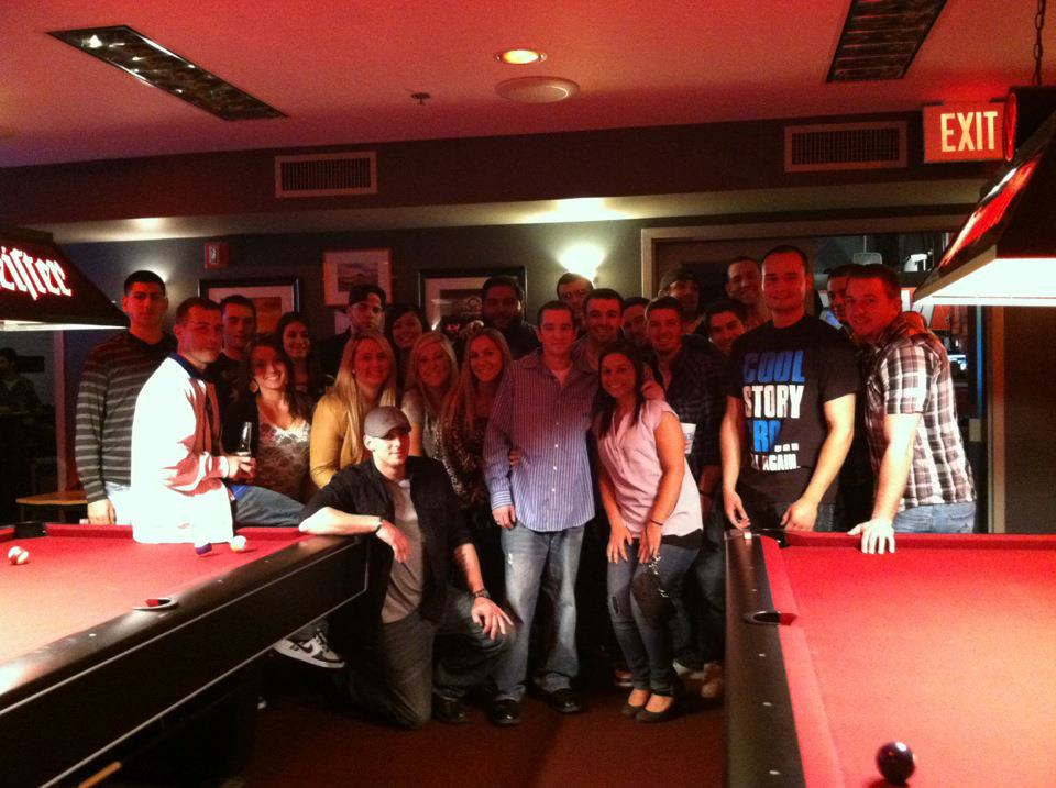 We somehow managed to get in a group photo the night of my surprise going away party when i left Boston for Denver