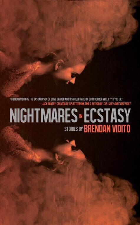 Nightmares in Ecstasy - is a collection of thirteen stories of surreal body horror. Within its pages, the line between eroticism and terror, desire and death, is blurred. Damaged souls hurtle, as if in a dream, toward mutilation, transformation and fates worse than death. It is literary hardcore fiction for fans of David Cronenberg, Junji Ito, and Clive Barker.
