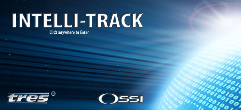 Start screen for Intelli-Track software.