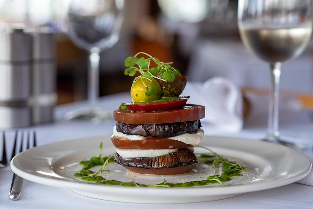 Grilled Eggplant & Heirloom Tomato Caprese