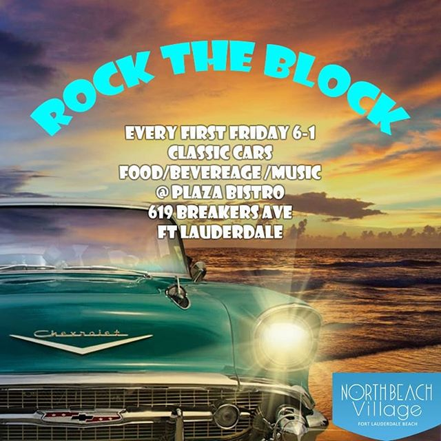 This Friday we host a bunch of Vintage cars Dj, food and drinks. Come for the car show and stay for the fun!! #breakersavenue #ftlauderdalebeach #vintagecars #friday