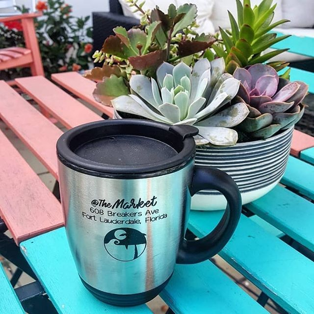 We now have our very own Coffee Mugs! With purchase, your first cup of coffee is free and then each coffee when you bring the mug in is only $1! 💙 . . . #atthemarket#northbeachvillage#breakersave#breakersavenue#fortlauderdale#fortlauderdalebeach#fortlauderdalefl#fortlauderdaleflorida#florida#southflorida#beach#market#marketplace#southfloridaliving#coffee#coffeeshop#espresso#latte#beach#smoothie#coffeemug#succulents#outdoorpatio