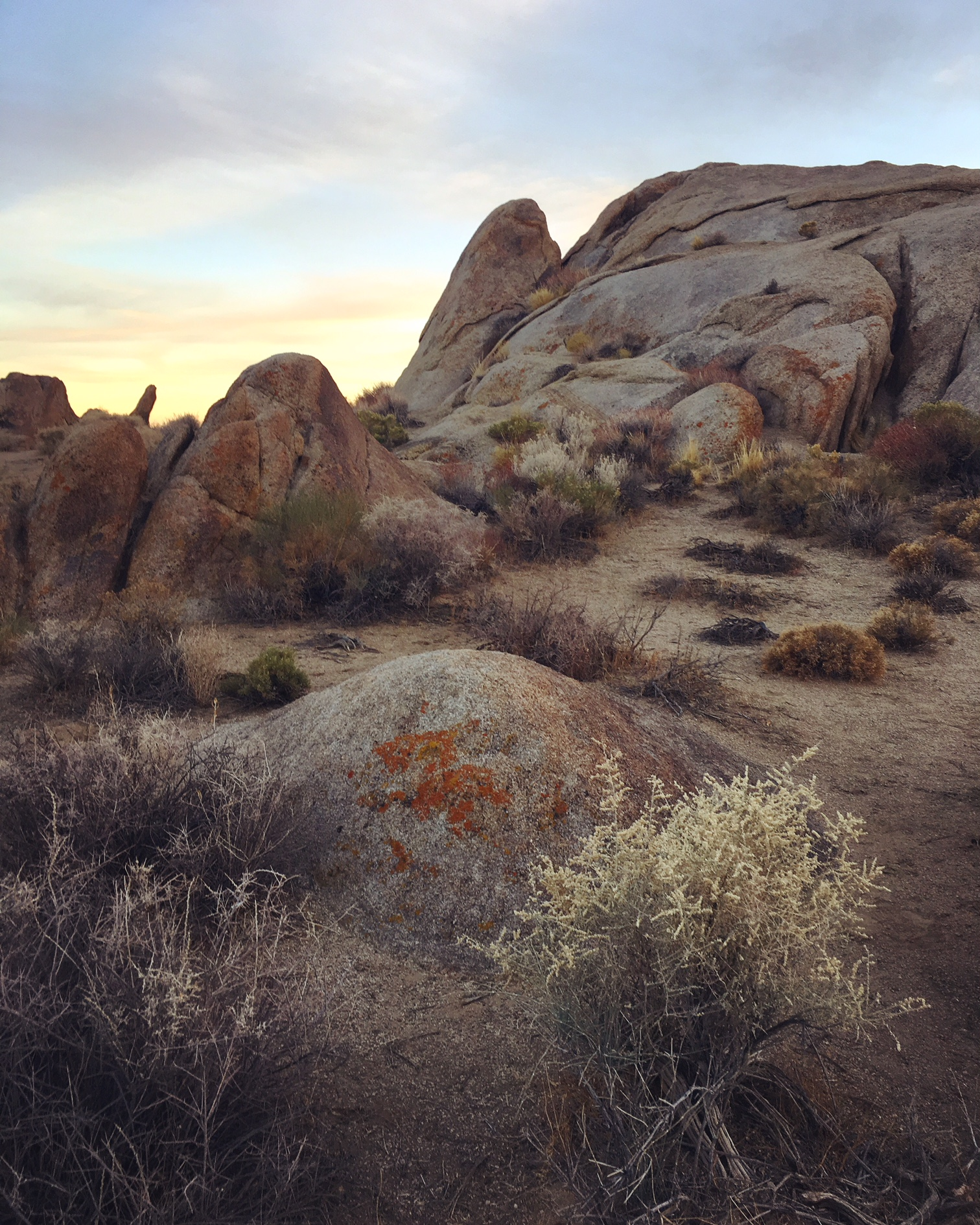 Sunset at Alabama Hills