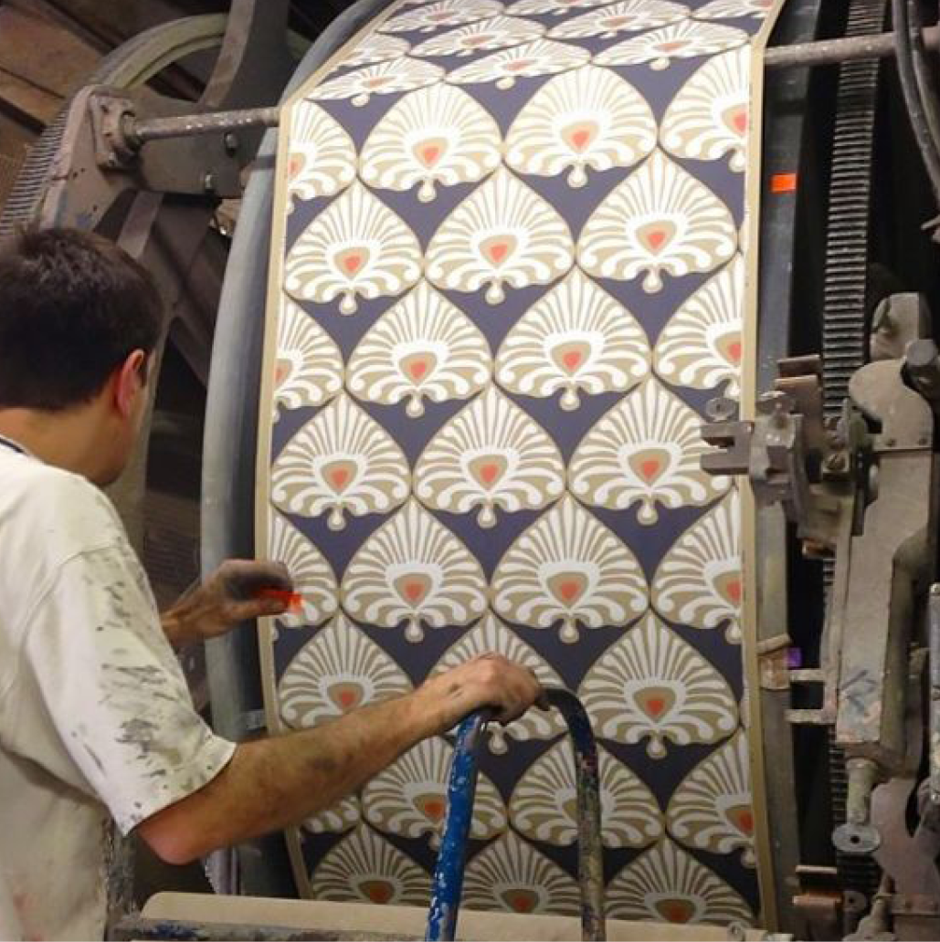 Wallpaper being printed by York Wallcoverings (Designed for Serena & Lily)
