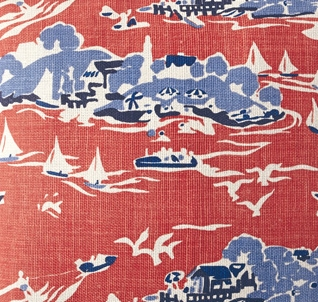 Screenprinted linen pillow (Designed for Serena & Lily)