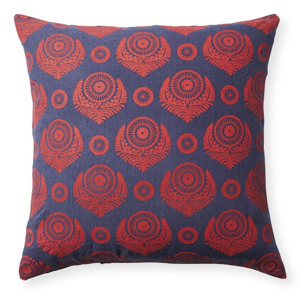 Screenprinted pillow (Designed for Serena & Lily)