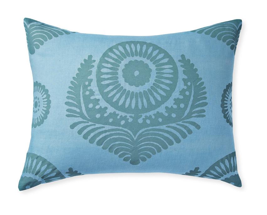 Screenprinted linen bedding (Designed for Serena & Lily)