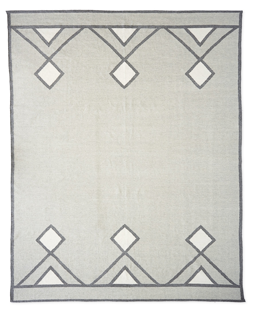 Wool dhurrie rug (Designed for Serena & Lily)