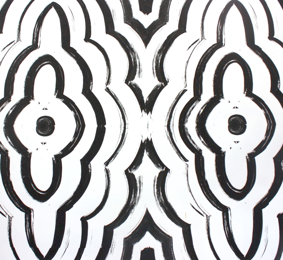 Guache painting - origination of a textile print (Designed for Serena & Lily)