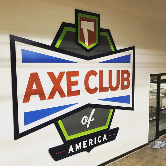 Our biggest sign to date!!! @axeclubofamerica