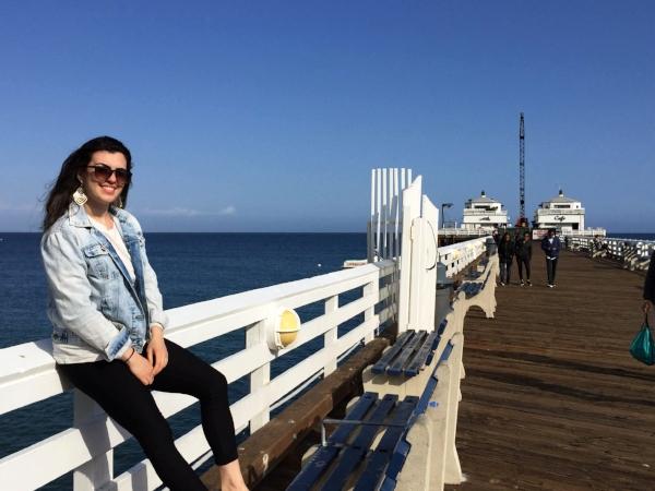 Malibu beach boardwalk.