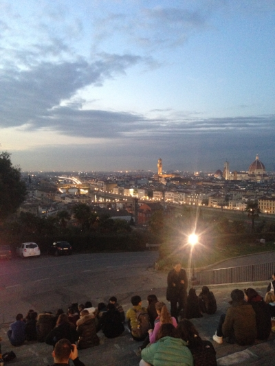 From the top of Piazzale Michelangelo.
