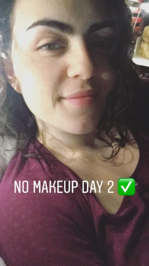Please disregard the awkward photo angles, sadly the only documentation of my makeup-less face was through my Instagram stories...oops!