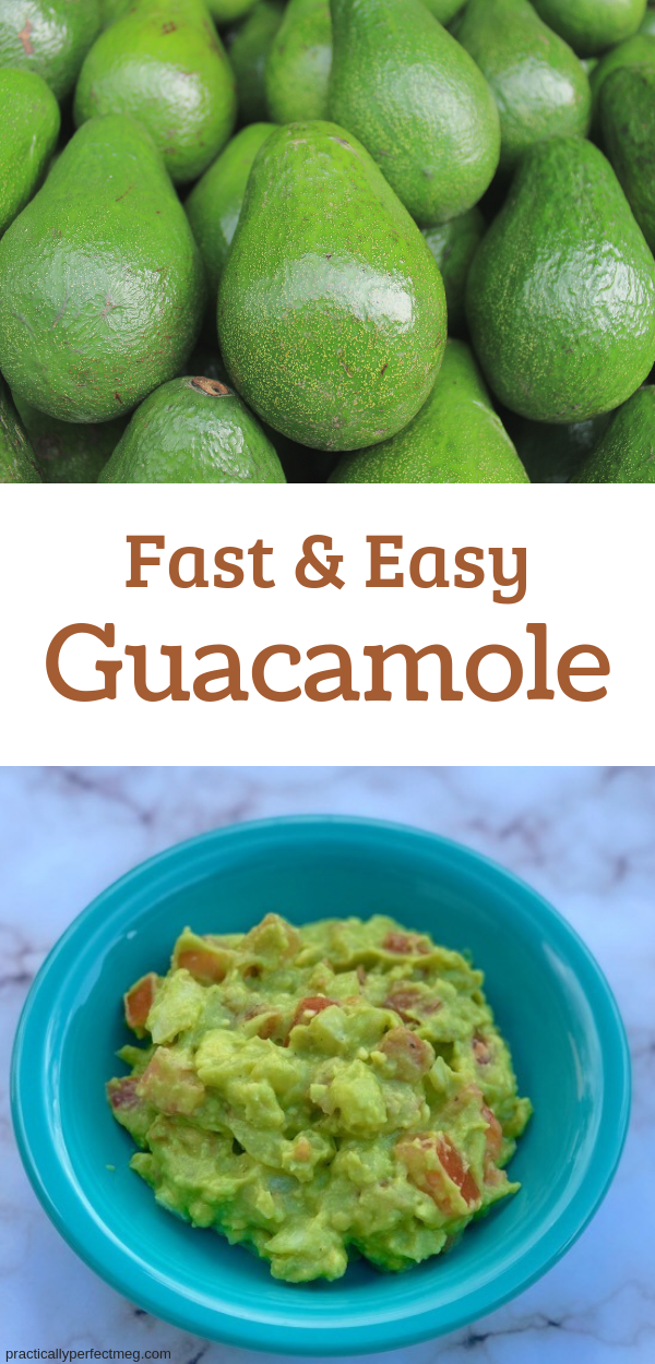 Fast and Easy Guacamole. #guacamole #recipe #superbowlpartyideas #superbowlpartyideasfood
